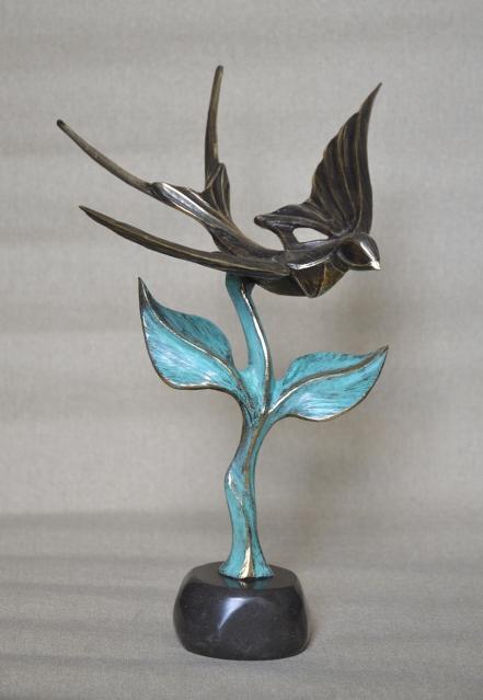 Лясовица - Скулптура. Борислав Бонев. Малка пластика от бронз.